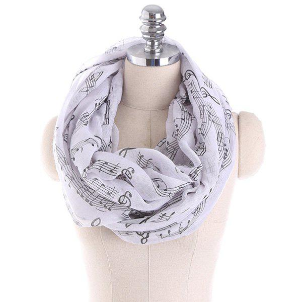 Music Note Stave Embellished Infinity Scarf music treasures co music note pad pack of 2