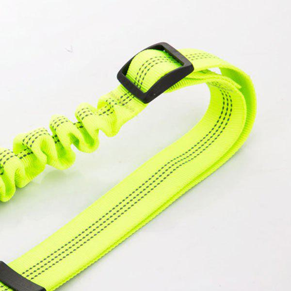 Reflective Adjustable Buffer Dog Car Safety Seat Belt Rope - YELLOW GREEN