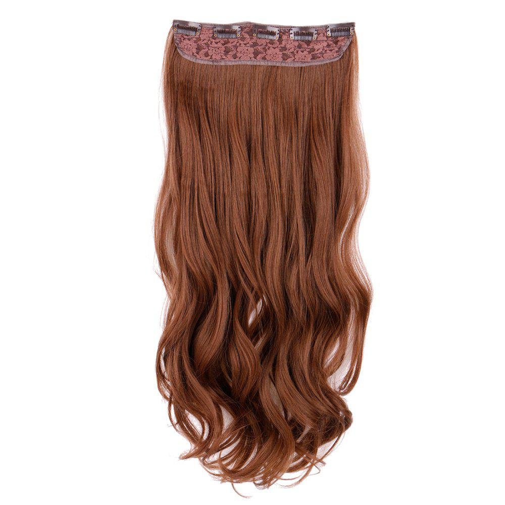 Long Clip In Wavy Hair Piece - LIGHT BROWN