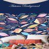 Waterproof Leaves and Fishs Pattern Wall Hanging Tapestry - COLORFUL W59 INCH * L51 INCH