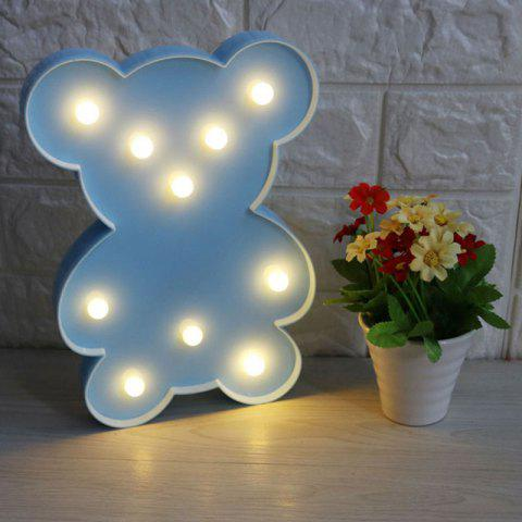 Lampe de décoration Little Bear Shape - Bleu