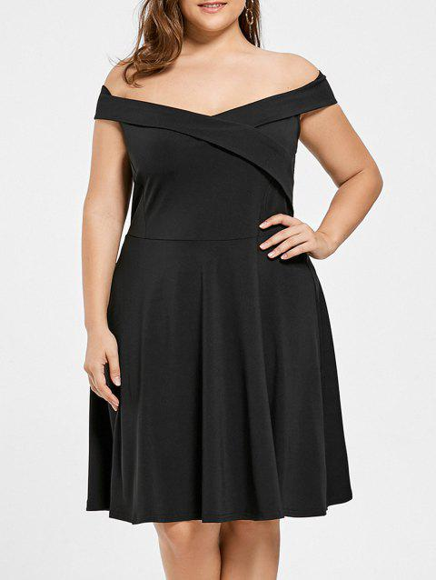 1bd7d985fd2fe 17% OFF] 2019 Plus Size Off Shoulder Mini Formal Dress In BLACK ...