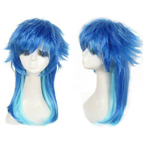 Long Straight Dramatical Murder/DMMD Seragaki Aoba Cosplay Anime Wig - BLUE