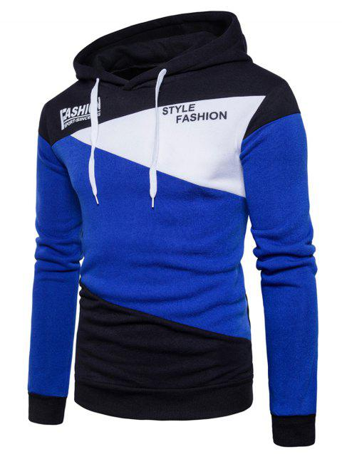 Hoodie De Panneau Tactile De Style Fleece Graphic - Royal S