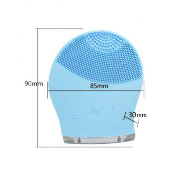 Silicone Charging Massage Facial Cleansing Brush Device -  AZURE