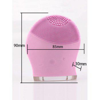 Silicone Charging Massage Facial Cleansing Brush Device -  PINK