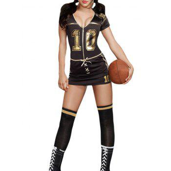 Plunging Neck Football Cosplay Costume - S S