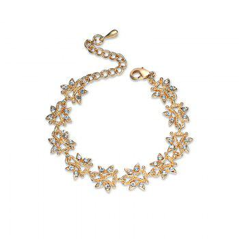 Rhinestoned Butterfly Shape Chain Bracelet - GOLDEN GOLDEN