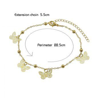 Charm Alloy Beads Butterfly Anklet -  GOLDEN
