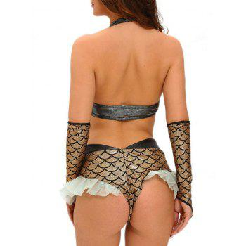Fish Scale Mermaid Cosplay Costume - GOLDEN L