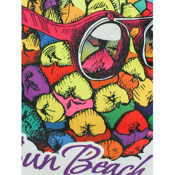 Pineapple Sun Beach Graphic T-shirt - XL XL