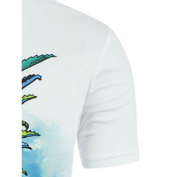 Pineapple Sun Beach Graphic T-shirt - WHITE WHITE