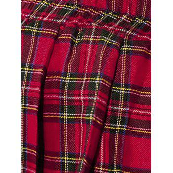 School Uniform Plaid Cosplay Costume - RED ONE SIZE