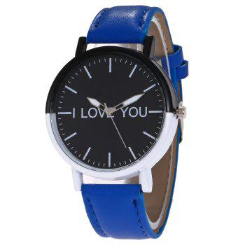 I Love You Faux Leather Watch