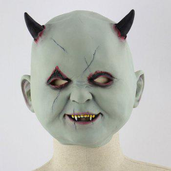 Halloween Vampire Print Head Mask - GRAY