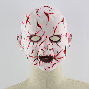 Halloween Blood Face Phantom Head Mask - RED
