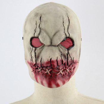 Blood Mouth Zombie Print Latex Halloween Mask - COLORFUL