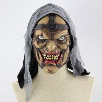 Pimp Printed Halloween Mask With Voile Cloth - GRAY