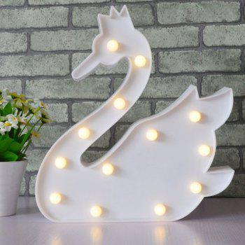 Swan Shape Decoration Atmosphere Lamp -  WHITE