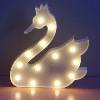 Swan Shape Decoration Atmosphere Lamp - WHITE WHITE
