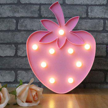 Strawberry Shape Decoration Night Light - LIGHT PINK LIGHT PINK
