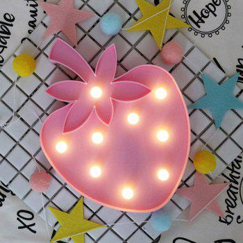 Strawberry Shape Decoration Night Light -  LIGHT PINK