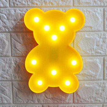 Little Bear Shape Decoration Lamp - YELLOW