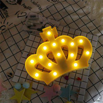 Exquisite Crown Shape Decoration Atmosphere Lamp -  YELLOW