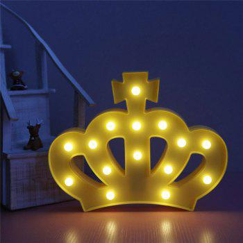 Exquisite Crown Shape Decoration Atmosphere Lamp - YELLOW YELLOW