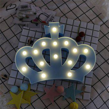 Exquisite Crown Shape Decoration Atmosphere Lamp - BLUE