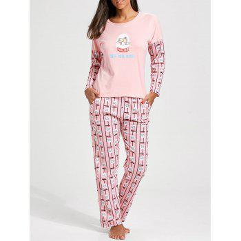 Printed Long Sleeves Pullover PJ Set