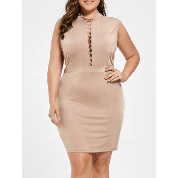 Plus Size Cut Out High Neck Bodycon Dress