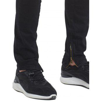 Destroyed Ankle-zip Jeans - Noir 34