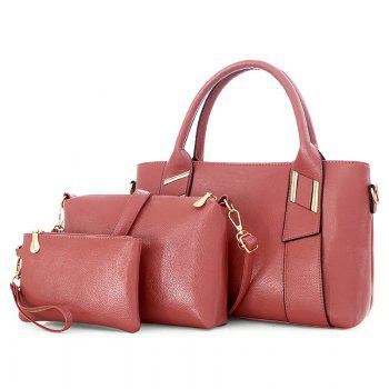 3 Pieces PU Leather Handbag Set