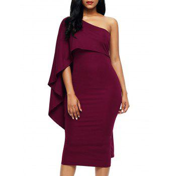 Asymmetric One Shoulder Bodycon Dress