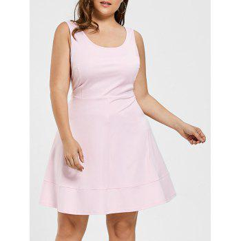 Plus Size Scoop Neck High Waist Dress