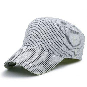 Flat Top Pinstripe Military Cap