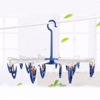 Multipurpose Clothes Socks Hanging Dryer with 20 Clips -  BLUE