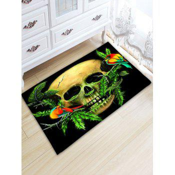 Skull Print Water Absorption Flannel Area Rug