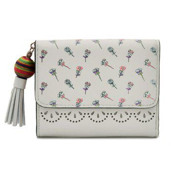 Tassel Flower Design Tri Fold Wallets - GRAY GRAY