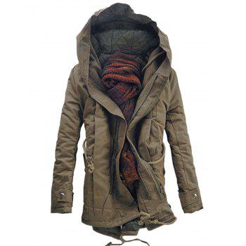 Manteau à capuche rembourré Double Zip Up Parka