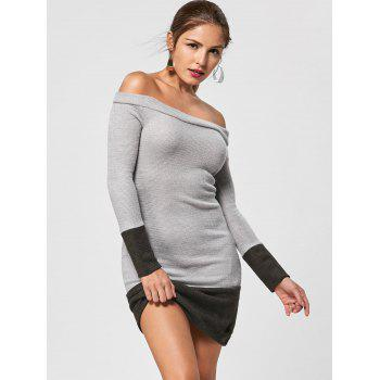 Off The Shoulder Sheath Jumper Dress - M M