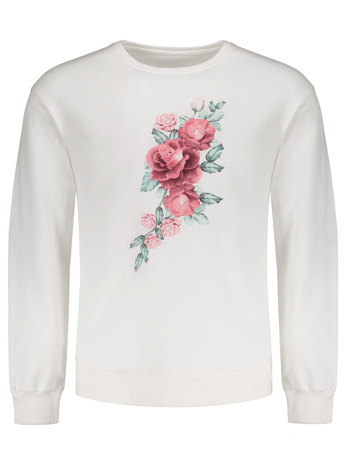 Floral Print Men Sweatshirt