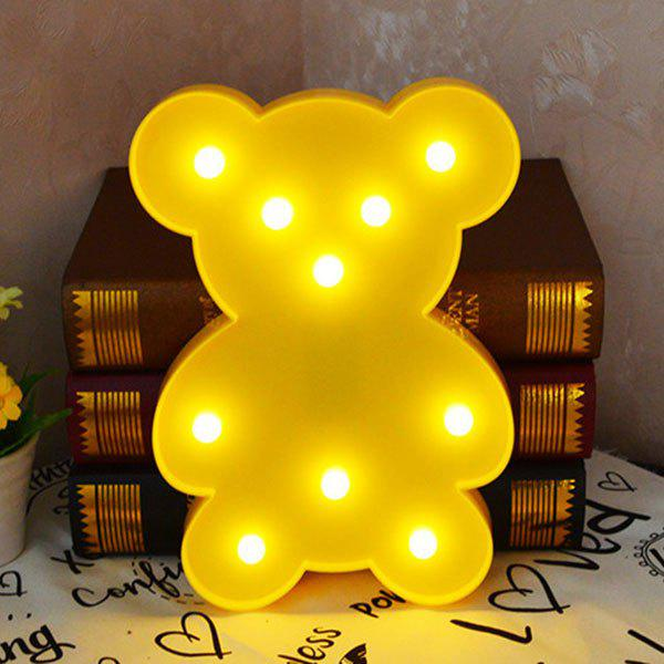Lampe de décoration Little Bear Shape - Jaune
