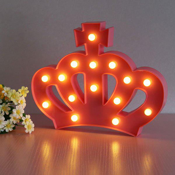 Exquisite Crown Shape Decoration Atmosphere Lamp - RED