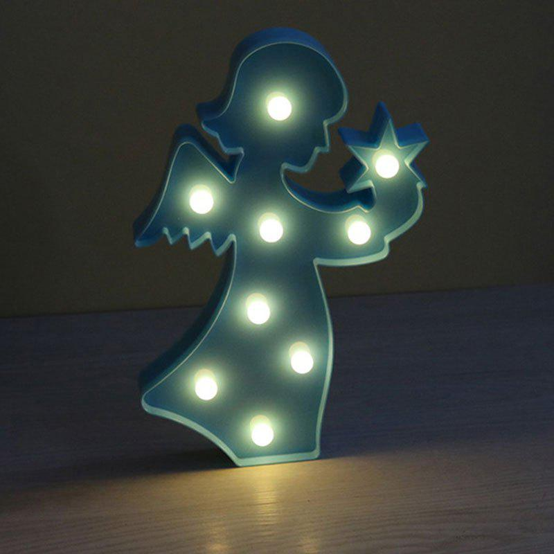 Angel Shape Decoration Atmosphere Lamp - BLUE