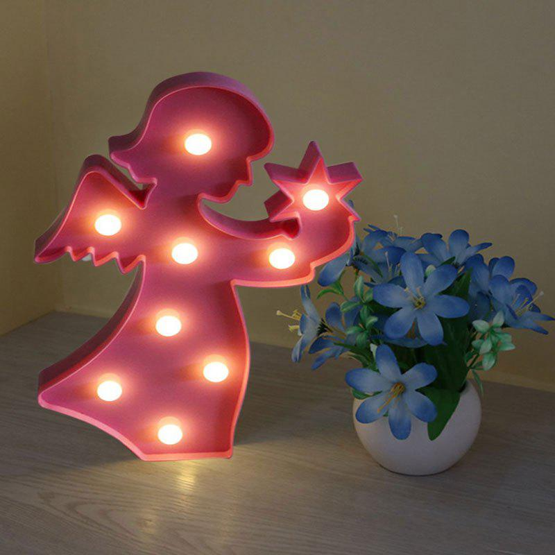 Angel Shape Decoration Atmosphere Lamp - LIGHT PINK