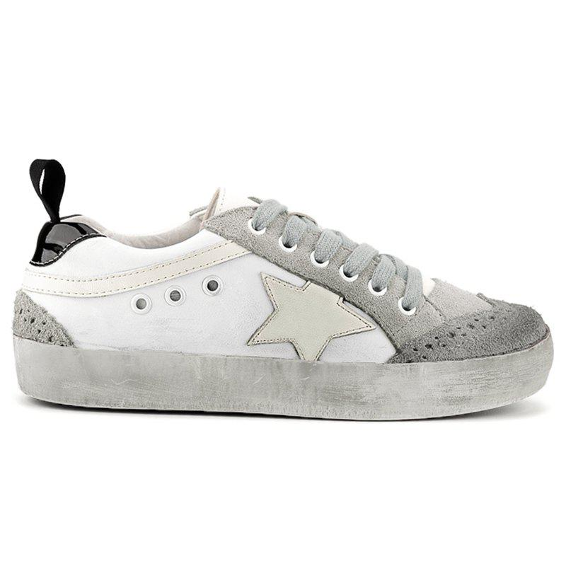 Color Blocking Star Lace Up Sneakers art silver art silver ar004dujjz59