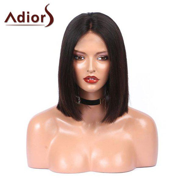 Adiors Center Parting Straight Medium Bob Perruque synthétique - Noir
