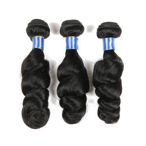 1Pc Long Loose Wave Indian Human Hair Weft - NATURAL BLACK 14INCH